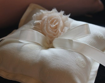 Handmade Rosette Ring Bearer Pillow