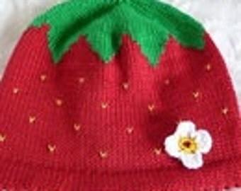 "Baby hat ""Strawberry"""