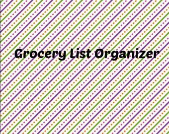 Grocery List Organizer