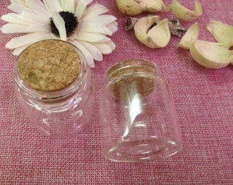 5 glass container with Cork