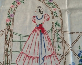 Snow White Hand Embroidered Apron