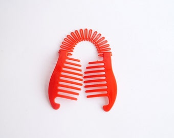 Women Hair Clips Ponytail Holder Vintage Double  Hair Comb  Ponytail Holder (Yellow)