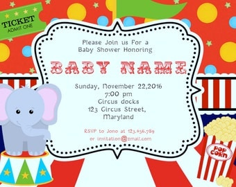 Circus Baby Shower Invitations -BSI_CCS_06