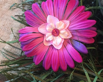 Pink & Purple Explosion Flower Bow