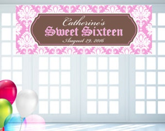 Personalized Sweet 16 Banner (FJM489350)