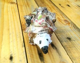 Paper baby hedgehog - brown/grey