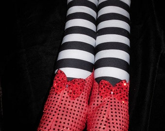 Wicked Witch Legs Ruby Slippers Wizard of Oz Prop Halloween or Party Decoration Stuffed