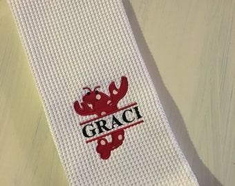 Monogrammed Crawfish Kitchen Towel
