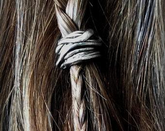 Viking hair bead kit The 'Skald' Bead silver hair bead viking jewelry Celtic steampunk cosplay goth BOHO hair jewelry TIBETAN ALLOY