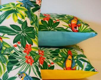 Pillow Cover [Tropical] 40 x 40 cm or 50 x 30 cm Toucan/Parrot/Jungle/exotic