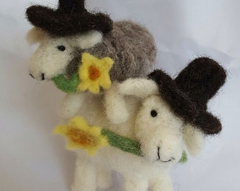 Needle Felted Welsh Sheep 100% Wool