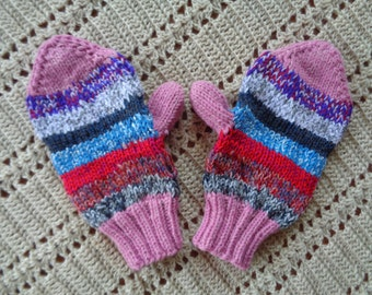 Knitted Adult Mittens