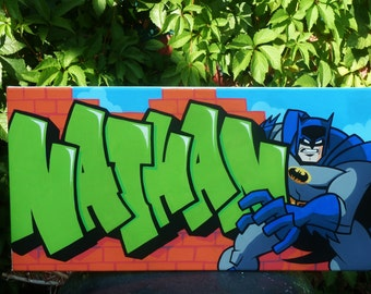 canvas NATHAN BATMAN