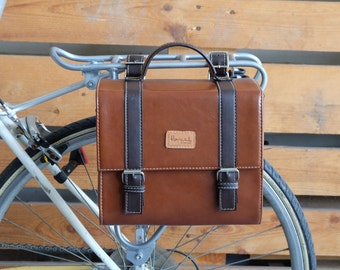 Vintage Cycling Cube Pannier Bag Bicycle Rear Market Messenger