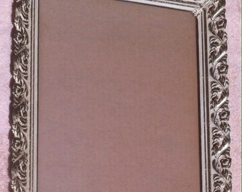 Vintage Photo Frame, Classic Photo Frame, 13 x 10 1/2, purple back,