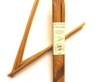 Bentwood Oak Serving Tongs