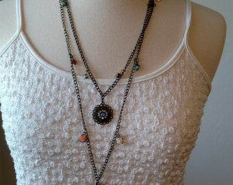 Fun and funky charm necklace