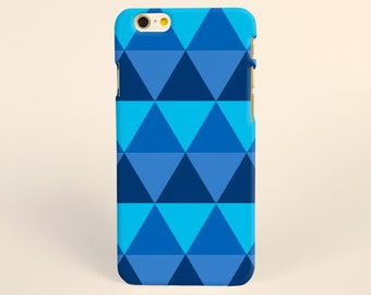 iPhone 8 case, iPhone X case, iPhone 7 plus case, iPhone 6s case tough case samsung galaxy s8 case Blue Geometric Triangle Tough phone case