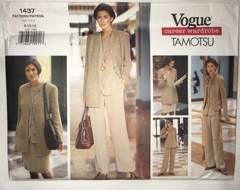 Vogue 1437 Tamotsu Career Wardrobe Sewing Pattern 8-12