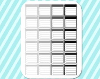 Printable Neutral Checklist Functional Stickers for Silhouette Studio, Erin Condren, Happy Planner, Filofax