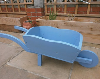 Ornamental garden wheel barrow