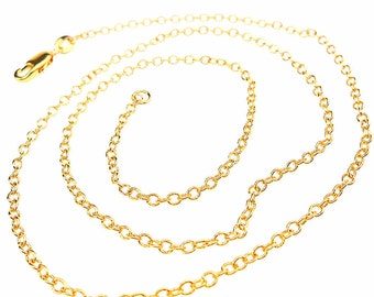 """16"""" Dainty Minimalist Delicate 18k Gold Filled Rolo Chain Necklace"""