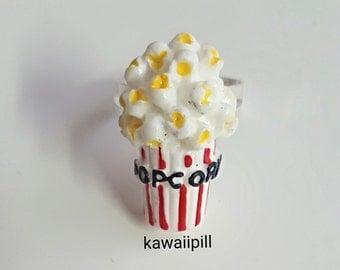 Cute popcorn rings / kawaii cinema jewellery decora harajuku accessories