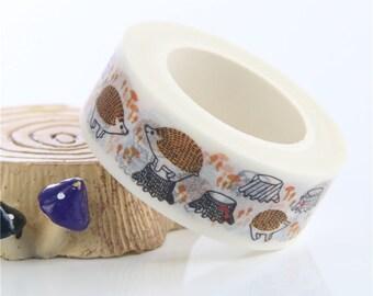 Hedgehogs Washi Tape / Hedgehog House Decorating Tape