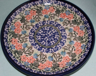 Floral Ceramic Plate Made In Poland
