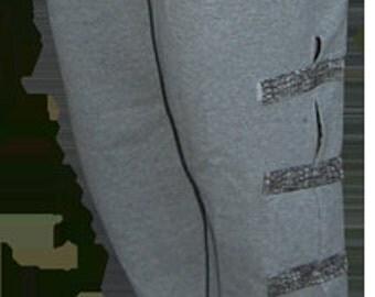 Grey men's pants | Over the cast | Over knee brace