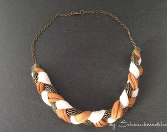 Statement necklace bronze Brown