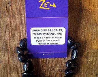 Shungite Crystal Bracelet - Powerful Water Cleanser & Antioxidant