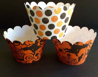 Halloween Inspired Cupcake Wrappers