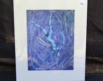 Aqua the water faery ( print)