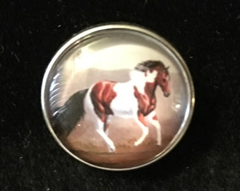 Paint Horse Snap that fits all interchangeable snap jewelry - 18mm & 20mm