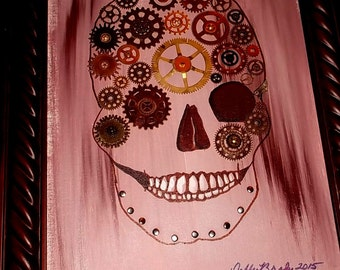 Original Painting - Skull