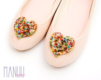 Multicolor hearts - shoe clips Manuu