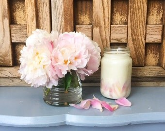 Peonies Infused Natural Soy Candle