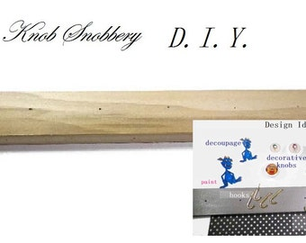 """DIY-Make Your Own Jewelry Organizer. Available in 4 Sizes, 12, 16, 19 or 24"""".  Bare Wood Board, PreDrilled, Ready for You To Design"""