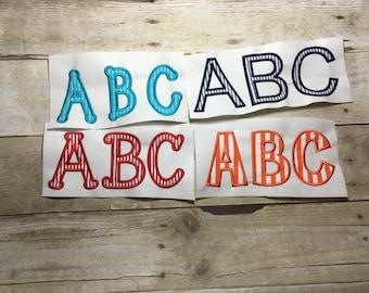 Applique Font Embroidery Package, Applique Package, 4 Applique fonts