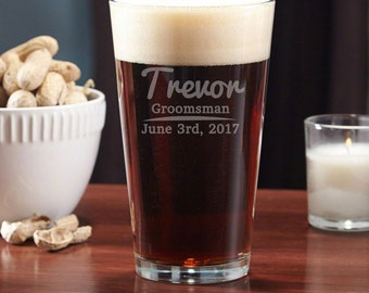 Custom Engraved Pint Glass Personalized