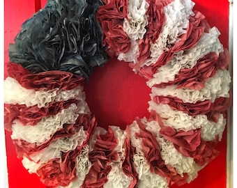 All American Coffee Filter Wreath