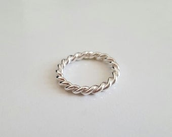 Ring Silver 925 twisted