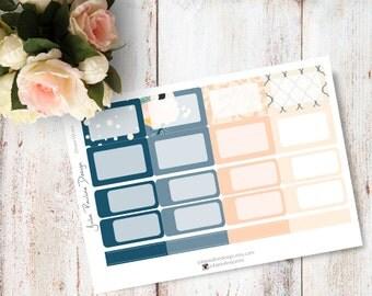 Planner Stickers for the vertical Erin Condren Life Planner - Dream Kit Haf Boxes Sheet