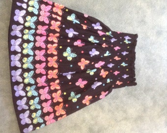 Black skirt with pretty flowers and butterflies