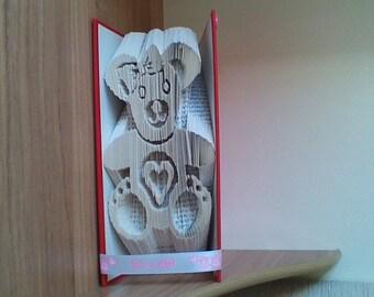 baby girl teddy book art