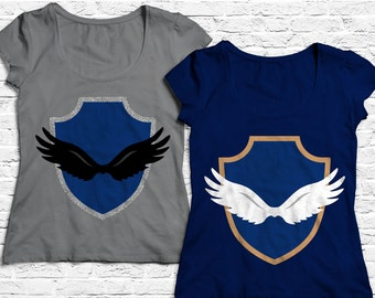 Winged Crest SVG File Cutting Template