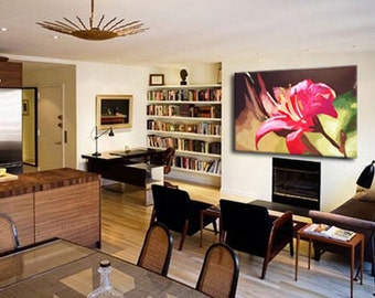 Flower Abstract Painting,Originai Oil Painting Wall Art Canvas Art