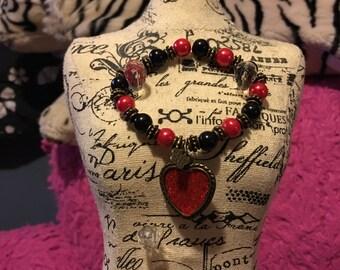 Steampunk Heart Bracelet
