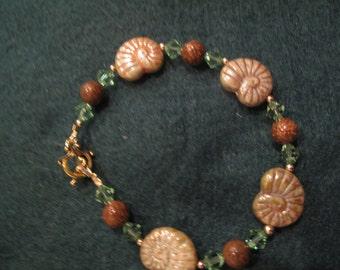 HANDMADE SNAILS Beaded Bracelet